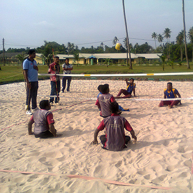 Sitting Beach Volleyball