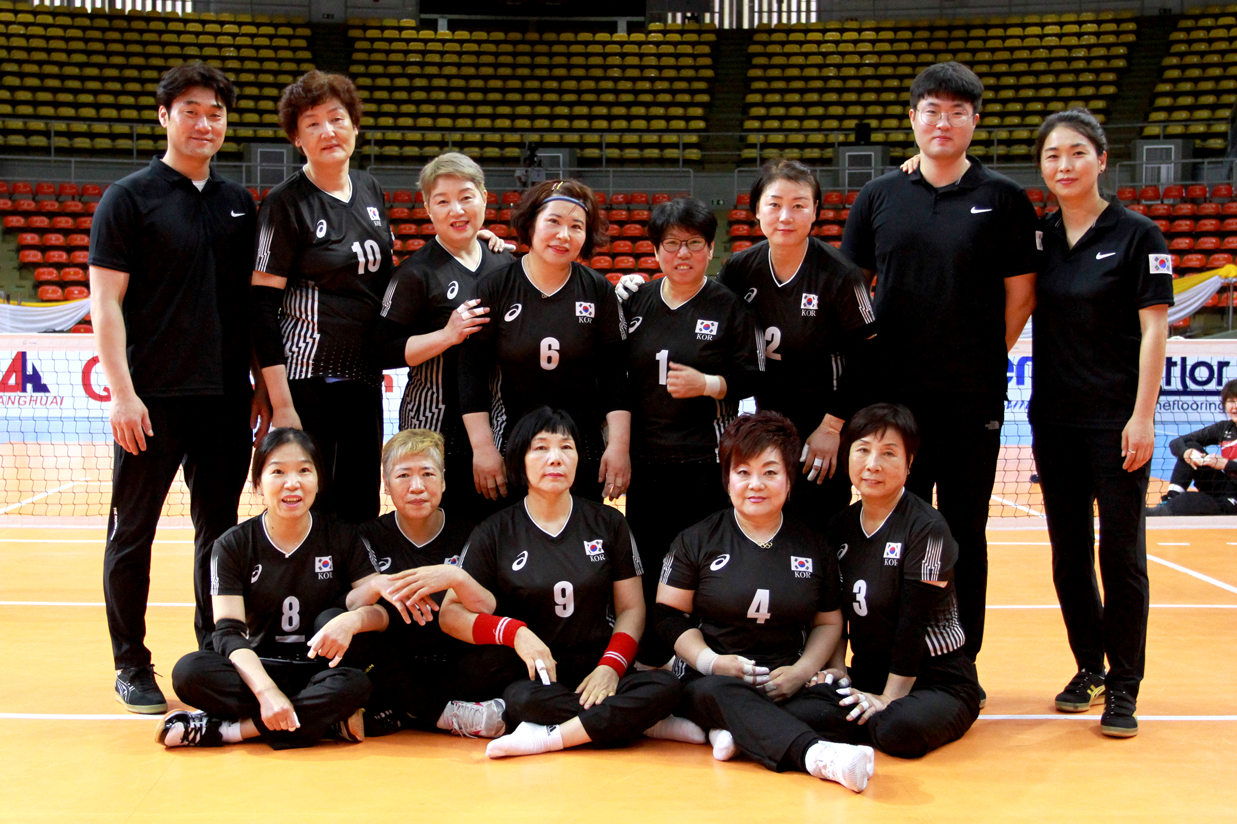 Age Not Barrier For Korean Women S Sitting Volleyball Team World Paravolleyworld Paravolley